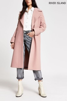 River Island Pink Light Adriana Coat