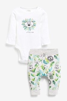 Lion Bodysuit And Jogger Set (0mths-2yrs)