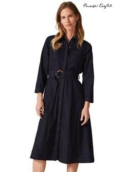 Phase Eight Blue Micaela Denim Dress