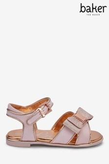 baker by Ted Baker Pink Gros Grain Sandals