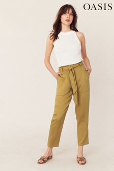 Oasis Brown Utility Trouser