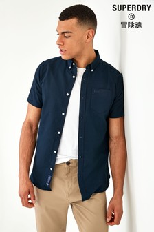 Superdry Navy Short Sleeve Shirt