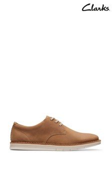 Clarks Tan Leather Forge Vibe Shoes