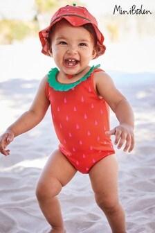 Boden Red Novelty Summer Swimsuit