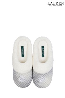 Lauren Ralph Lauren® Grey Plaid Slippers