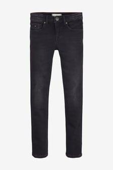 Tommy Hilfiger Nora Skinny-Jeans für Mädchen, Schwarz