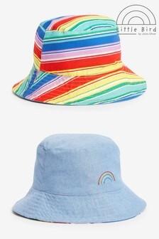 Little Bird Reversible Rainbow Bucket Hat