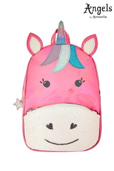Angels by Accessorize Pink Rainbow Unicorn Backpack