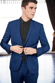 Diamond Texture Skinny Fit Suit