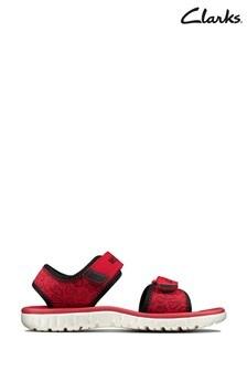 Clarks Red Surfing Glove K Velcro Sandals