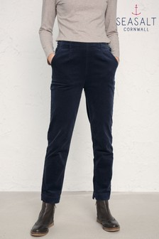 Seasalt Blue Midnight Crackington Trousers