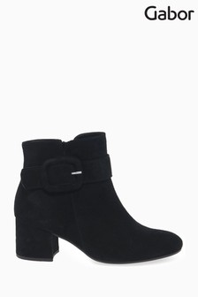 Gabor Black Capri Womens Modern Suede Ankle Boots