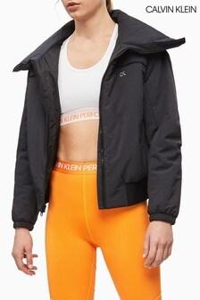Černá lehká funkční prošívaná bunda Calvin Klein