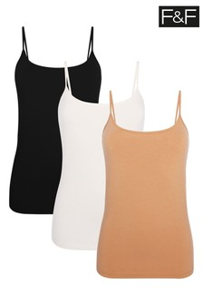 F&F Multi Cami Three Pack