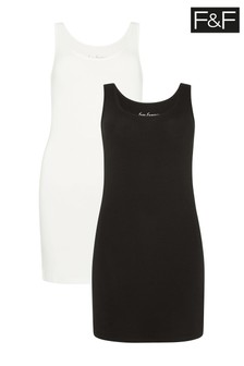 F&F Multi Longline Vests Two Pack