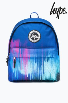 Hype. Neon Drips Blue Backpack