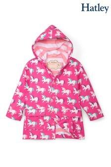 Hatley Pink Mystical Unicorns Colour Changing Raincoat