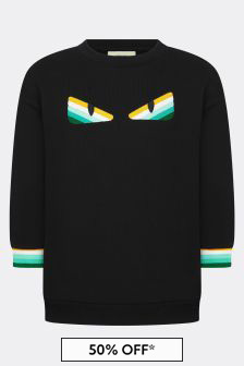 Fendi Kids Kids Black Cotton Sweat Top