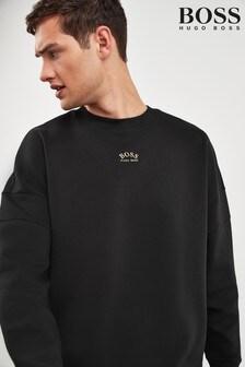 BOSS Black Salboa Crew Neck Logo Sweatshirt