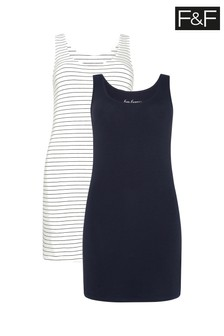 F&F Multi Longline Vests Two Pack