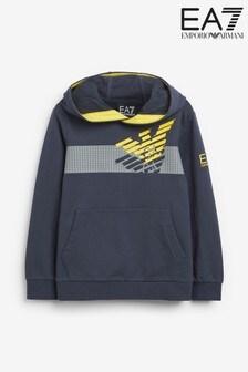 Emporio Armani EA7 Boy's Eagle Logo Hoody