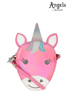 Angels by Accessorize Pink Rainbow Unicorn Across Body Bag