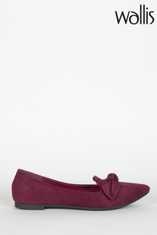 Wallis Red Betsy Mulberry Bow Detail Point Shoes