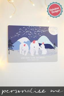 Personalised Polar Bear Hanging Decoration by Oakdene Designs