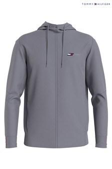 Tommy Hilfiger Silver Logo Fleece Hoodie