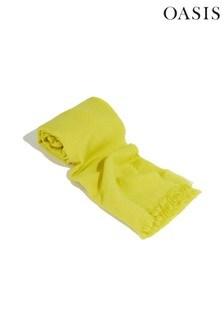 Oasis Yellow Tia Textured Scarf