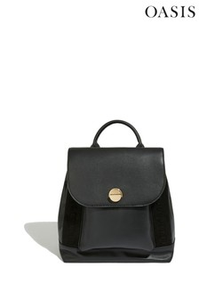 Oasis Black Whipstitch Backpack