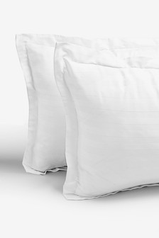 Set Of 2 Stripe And Check Pillowcases