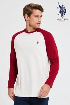 U.S. Polo Assn. Red Contrast Raglan Ringer T-Shirt