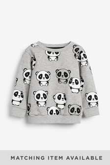 Panda All Over Print Crew Neck Sweater (3mths-7yrs)