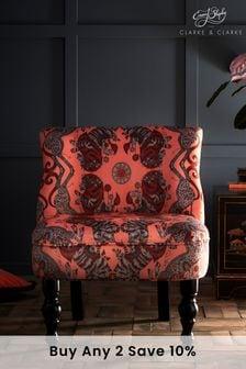 Caspian Coral Langley Chair By Emma Shipley