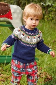 Boden ブルー フェアアイルパターン セーター