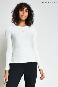 Harpenne Cream Rib Knit Jumper