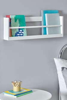 Small White Wall Mounted Bookcase