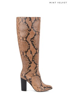 Mint Velvet Faith Snake Long Boots