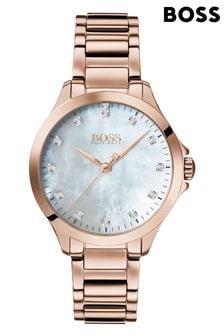 BOSS Diamonds For Her Carnation Gold Watch