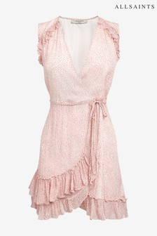AllSaints Red Priya Leox Dress