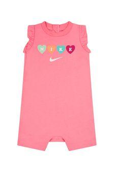 Nike Baby Girls Pink Cotton Romper