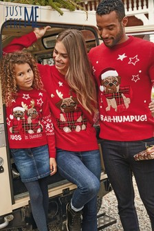 Kids Matching Family Bah Humpug Jumper (3-16yrs)