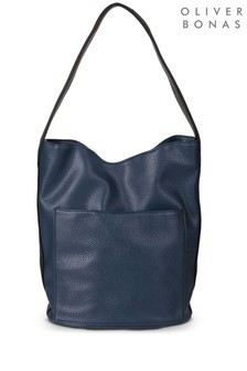 Oliver Bonas Blue Ingrid Bucket Bag