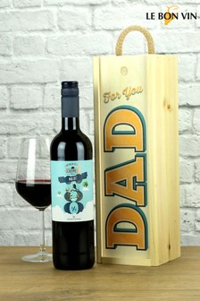 For Dad Wooden Box Malbec Wood Box Wine Gift Set by LeBonVin