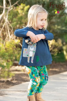 Frugi Organic Tunic And Leggings Set With Leopard Leggings