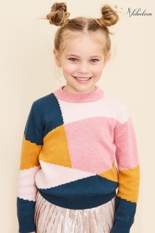 Velveteen Pink Meredith Colourblock Jumper