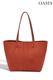 Oasis Orange Whipstitch Tote Bag