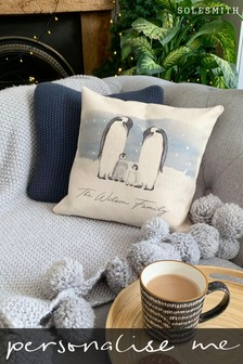 Personalised Family Penguin Cushion by Solesmith