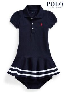 Ralph Lauren Navy Logo Dress